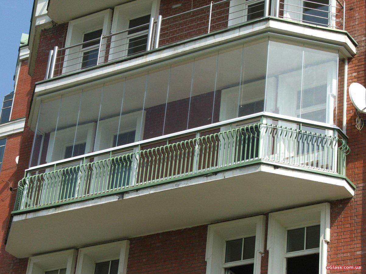 Безрамное остекление балконов и лоджий в - Санкт