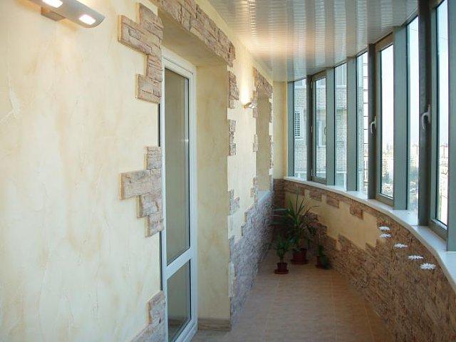 Балкон с камнем дизайн