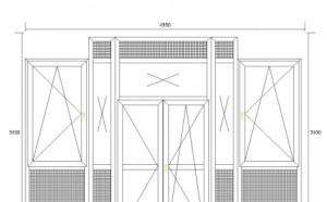 схема французского балкона в сталинке
