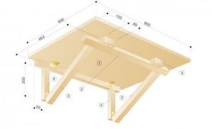 схема откидного столика для балкона