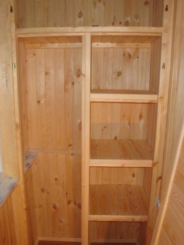 Шкаф на балкон из вагонки самому: советы как сделать дверь и.