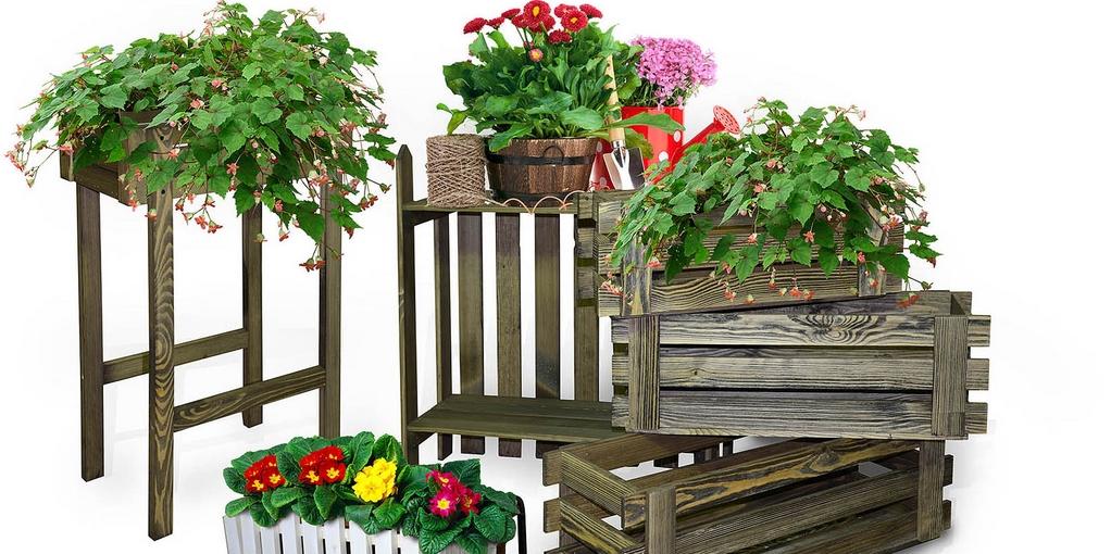 Деревянные ящики для цветов своими руками фото