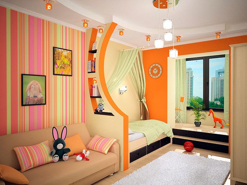 Детская с гостиной дизайн
